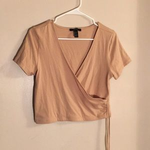 Tan cinched Forever 21 top